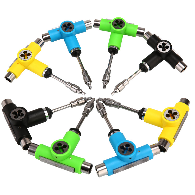 Electric Skateboard Wrench T-Shape Y Type Repair Tools Scooter Bearing Tool Multi-functional Skateboard Tool Wrench