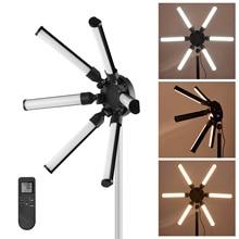 TL 900S dijital fotoğraf dolgu ışığı yıldız şekilli daire ışıkları 6 adet led tüpler 60W CRI 97 3200 K  5600K Video canlı akış için makyaj