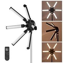 Tubos de led 60w cri 97 TL 900S k, 3200 fotografia digital, enchimento de luz em formato de estrela, luzes em círculo, 6 peças 5600k para vídeo maquiagem ao vivo