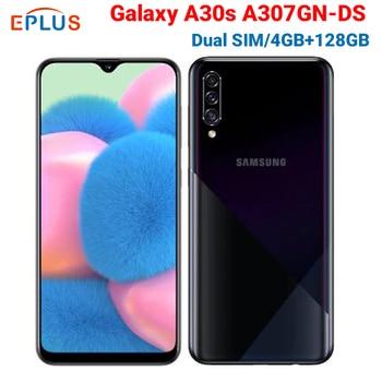 Купить Новый мобильный телефон samsung Galaxy A30s A307GN/DS, две sim-карты, 4 ГБ, 64 ГБ, 128 ГБ, 6,4 дюйма, тройная камера заднего вида, 25MP, 8MP, 5MP, 4000 mAh, 4G