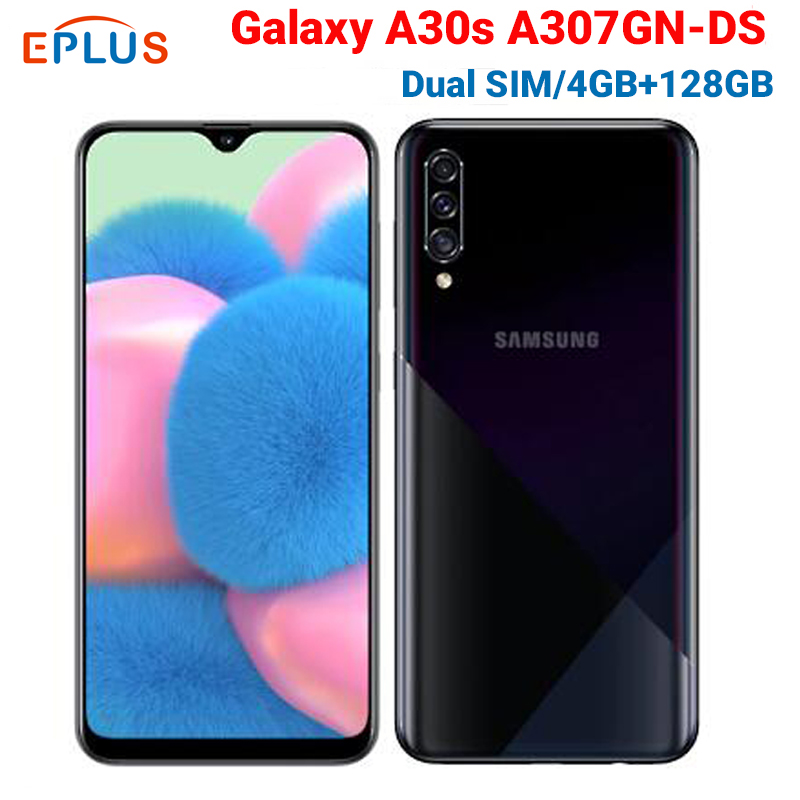 Brand New 6.4 Inch Samsung Galaxy A30s A307GN/DS 4GB 64GB / 128GB Mobile Phone Triple Camera 25MP 4000mAh 4G Android Smartphone