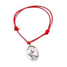 Хит! 5 шт регулируемые браслеты красные воски веревка сплав