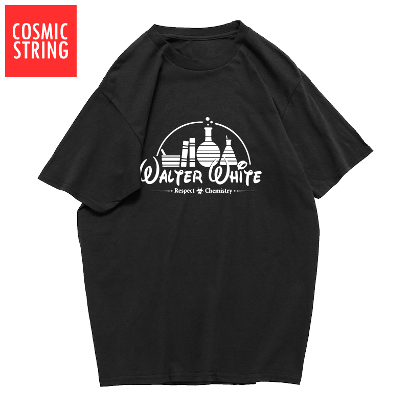 COSMIC STRING top quality 100% cotton short sleeve cool walter white print men T shirt casual heisenberg men Tshirt male t-shirt image