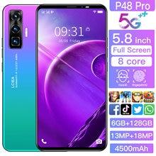 New P48pro 5.8inch 6+128G 13MP+18.0MP Camera 4500mAh Big battery Smartphone Dual SIM Support T-Flash Card 4 5G Cellphone