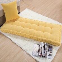 1pc longo grosso almofada decoração de escritório em casa almofada longa cor sólida tatami customizável almofada do assoalho frete grátis