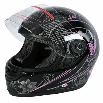 DOT Adult Pink Black Butterfly Helmet Motorcycle Street Full Face Sport Race Helmets S M L XL XXL 2