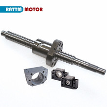 EU ship RM/SFU2005 Ballscrew Kit L 600 800 1000mm end machined with nut & BK/BF15 Support & Nut housing for CNC router machine