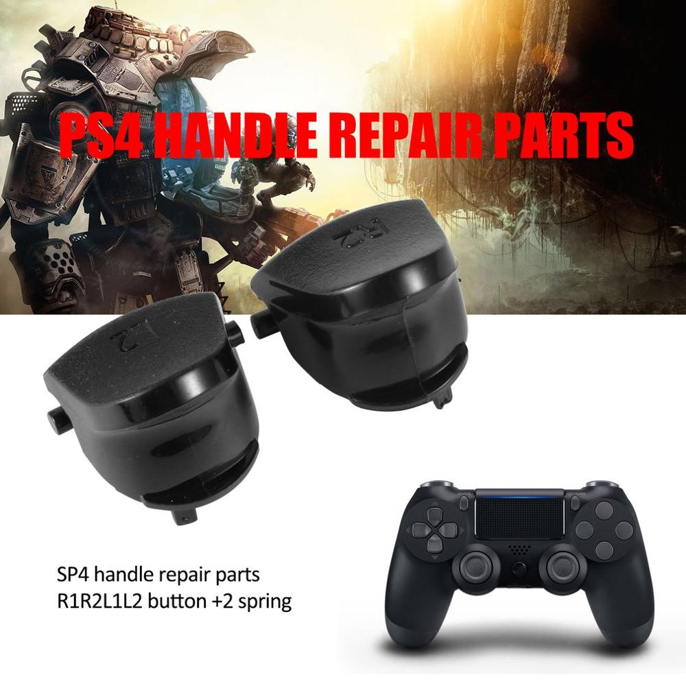 Black Replace Buttons R1 L1 R2 L2 Triggers  For Dualshock 4 For PS4 Controller Game Accessaries PS4 Button With 2 Spring