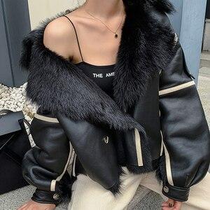 Image 5 - Kadın gerçek koyun derisi DERİ CEKETLER en kaliteli hakiki deri ceket moda ceket bayan yeni varış