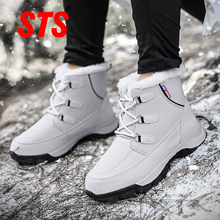 STS Women Snow Boots Ankle Winter New Keep Warm Plush Cotton Shoes Fashion Waterproof Casual Outdoor Sneakers botas mujer