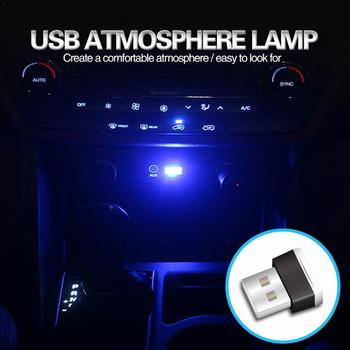 Mini USB Light LED Modeling Car Ambient Light Neon light (6 Light Jewelry of Car kinds colors) Interior Y0D0 image