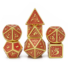 2020 New DnD Metal Dice RPG MTG Dice Include Dice Pouch Variety of Colors D4 D6 D8 D10 D12 D20 Dragon scale style game dice set