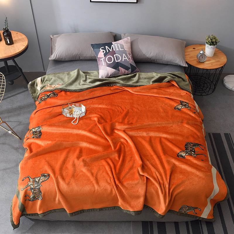 Modern Light Luxury Blanket Flannel Warm Soft Skin friendly Throw Blanket For Sofa Bed Cover Shawl Blanket Home Textile|Blankets| - AliExpress