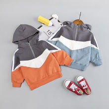 Toddler Kids Sweatshirt For Boys Patchwork Sweat Crop Top Ho