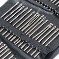 55 шт./компл. иглы хвост; Многоразмерные х боковое отверстие Нержавеющаясталь для штопки (ручные швейные иглы вышивка инструмент Игла DIY