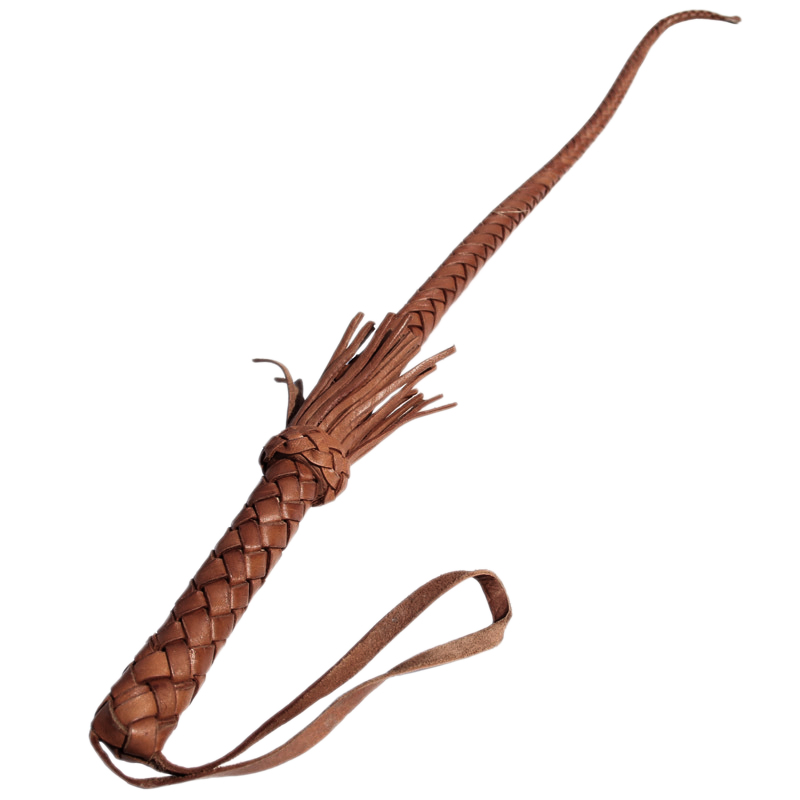Bull Leather Hand Made Riding Whips Horse Racing Harness Whip Riding Crop