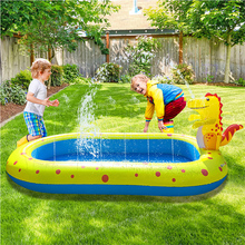 Inflatable Swimming Pool with Sprinkler Kiddie Pool Family Full-Sized Inflatable Pool Blow Up Lounge Pools Garden Party QP2