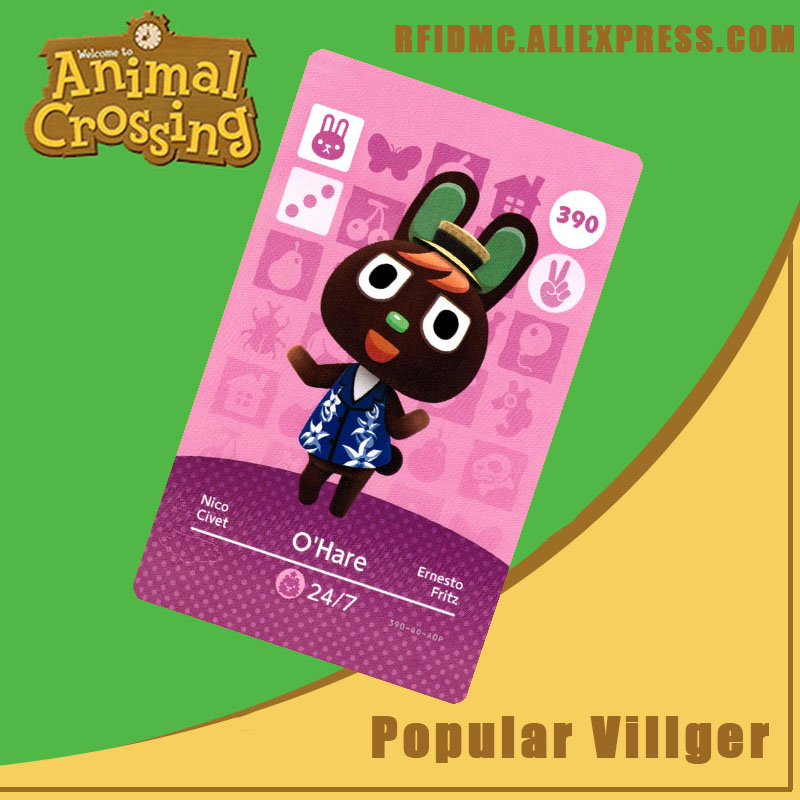 390 O'Hare Animal Crossing Card Amiibo For New Horizons