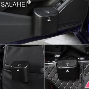 Image 5 - Car Trash Bin Garbage Can For Car Dustbin  Storage Holder Bag For Mitsubishi ralliart Lancer 9 10 Asx Outlander asx 3 Pajero