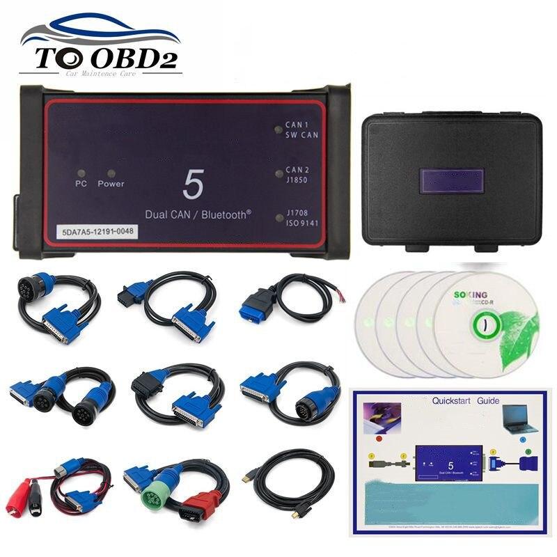 Sans Bluetooth Dpa5 adaptateur de protocole Dearborn 5 Scanner de camion robuste CNH DPA 5 fonctionne pour multi-marques multi-langue