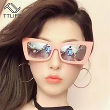 TTLIFE Female Vintage Sunglasses Women Fashion Cat Eye Luxury Sun Glasses Classic Shopping Lady Black Oculos De Sol UV400