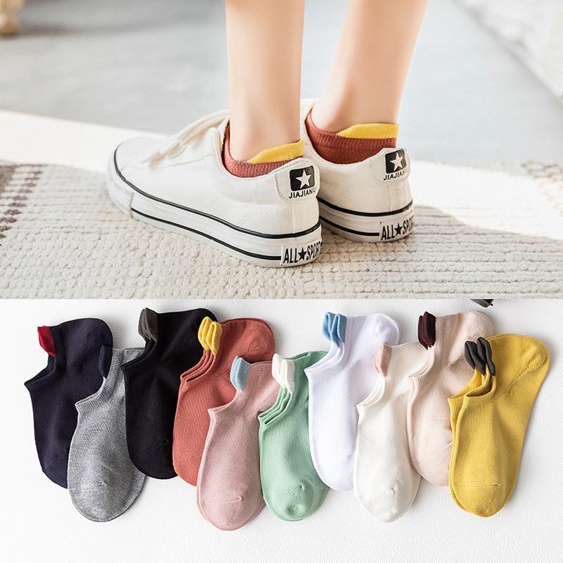 2020 5 Pairs New Arrival Striped Socks Women Cute Bamboo Fiber Funny Socks High Quality Women Fashion(China)