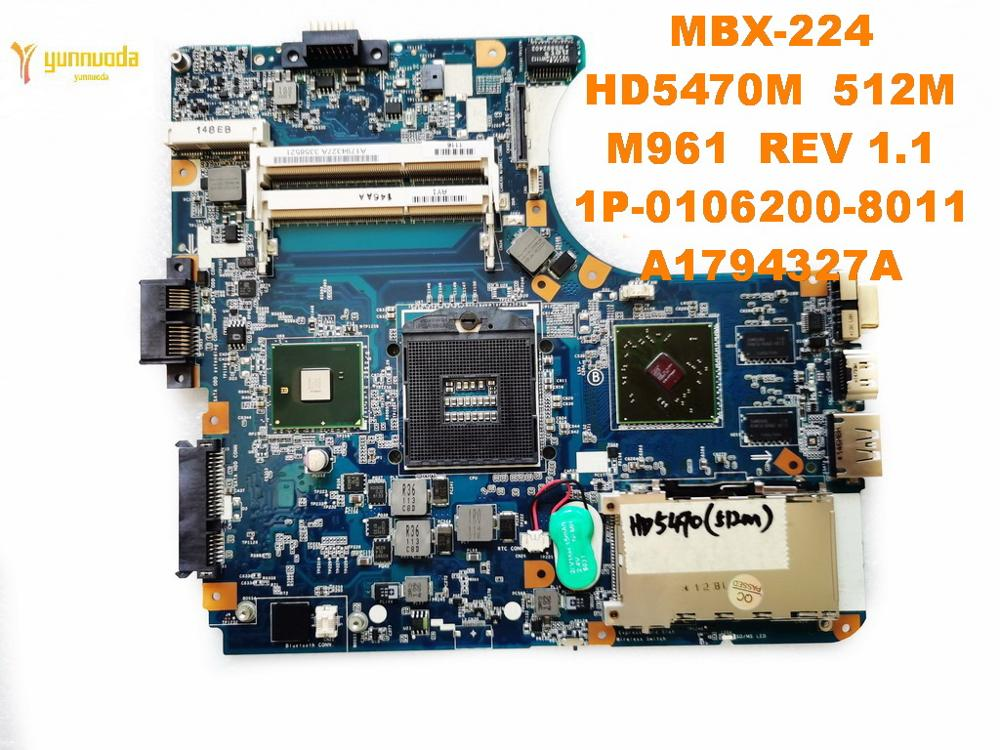 Original For SONY MBX-224 Laptop  Motherboard MBX-224  HD5470M  M961  REV 1.1  A1794327A  Tested Good Free Shipping