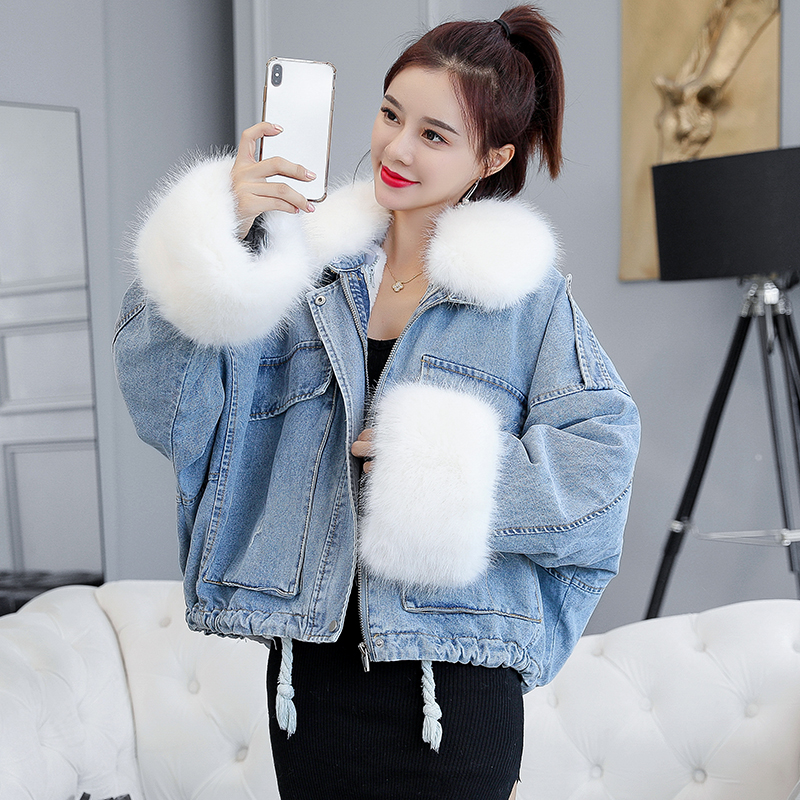 Make Winter Han Edition Loose Thickening Heavy Hair Plush Bladder Led Cowboy Parties Overcome Female Cotton Short Coat