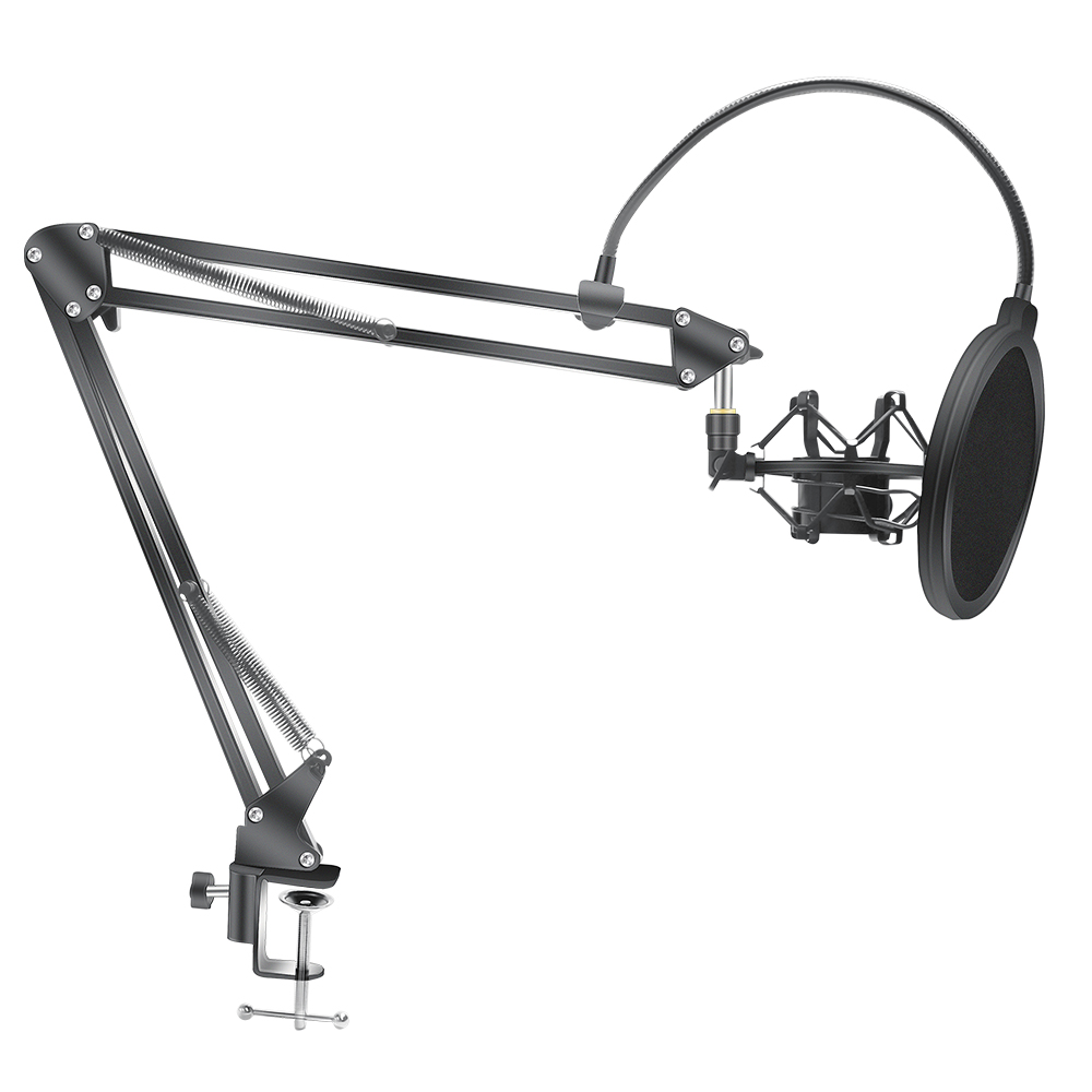 Scissor Arm Stand For Bm800 Microphone Stand With A Spider Cantilever Bracket Universal Shock Mount Mic Holder