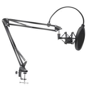 Image 1 - Scissor Arm Stehen Für Bm800 Mikrofon Stehen Mit EINE Spinne Cantilever Halterung Universal Shock Mount Mic Halter