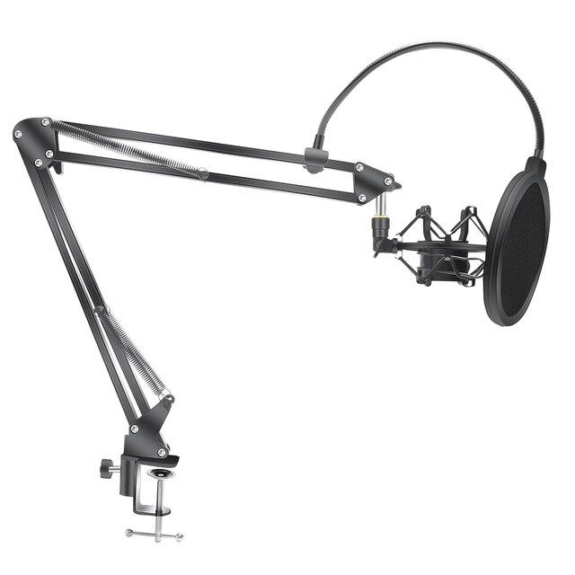 Scissor Arm Stehen Für Bm800 Mikrofon Stehen Mit EINE Spinne Cantilever Halterung Universal Shock Mount Mic Halter