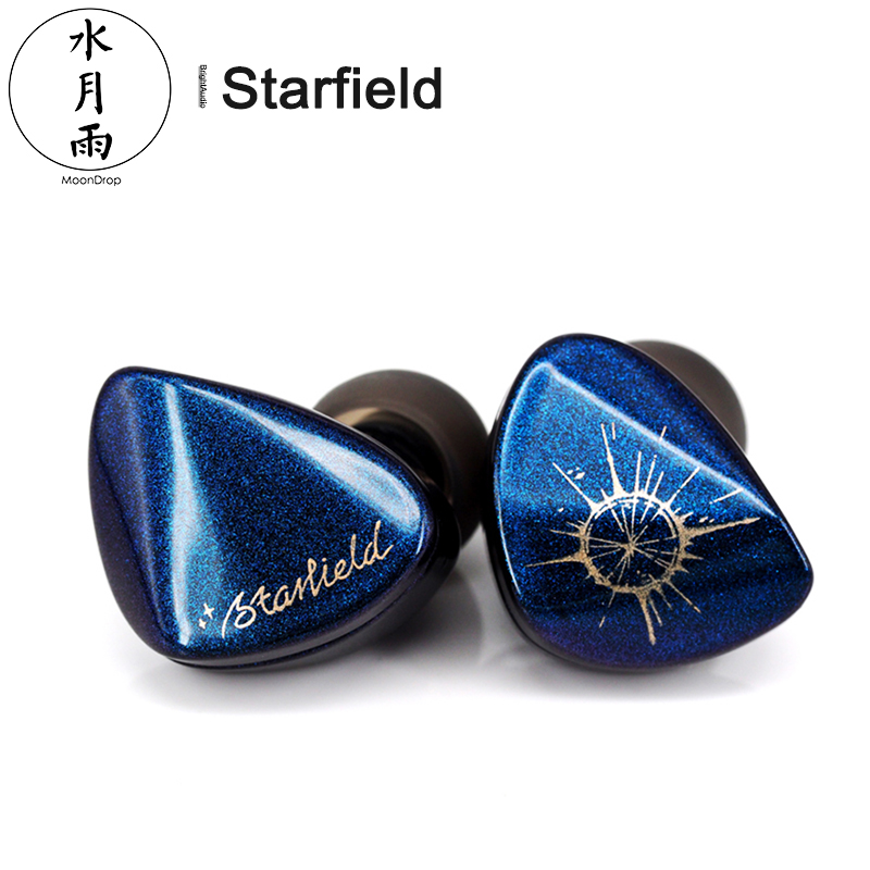 Moondrop Starfield HIFI Audio Dynamic In-ear Earphone Carbon Nanotube Diaphragm IEM With 2 Pin 0.78mm Detachable Cable