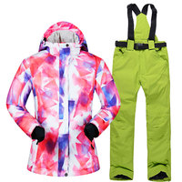 2019 New Ski Suit Women Female Windproof Waterproof Winter Sets Snow Jacket And Pants Skiing And Snowboarding Suits Brands