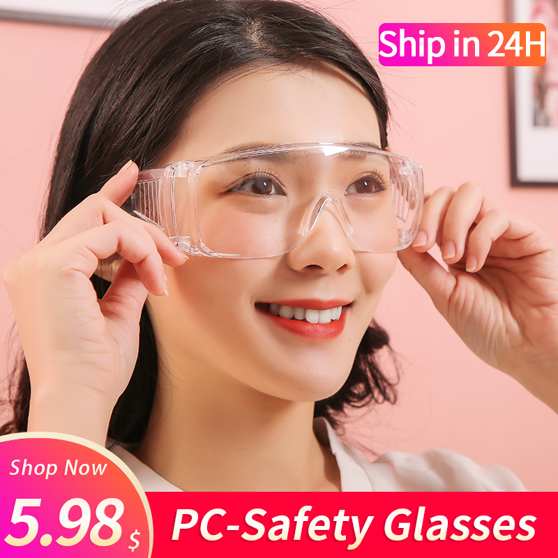 Goggles medical anti-fog saliva antibacterial isolation dust-proof wind-proof sand anti-fog Cycling multi-function labor protect title=