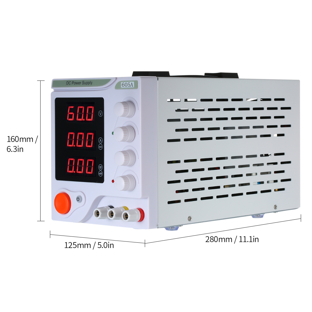 0 60V 0 5A High Precision Digital LED Display Adjustable Regulated dc power supply 605A 300W Voltage Laboratory dc power supply in Voltage Regulators Stabilizers from Home Improvement