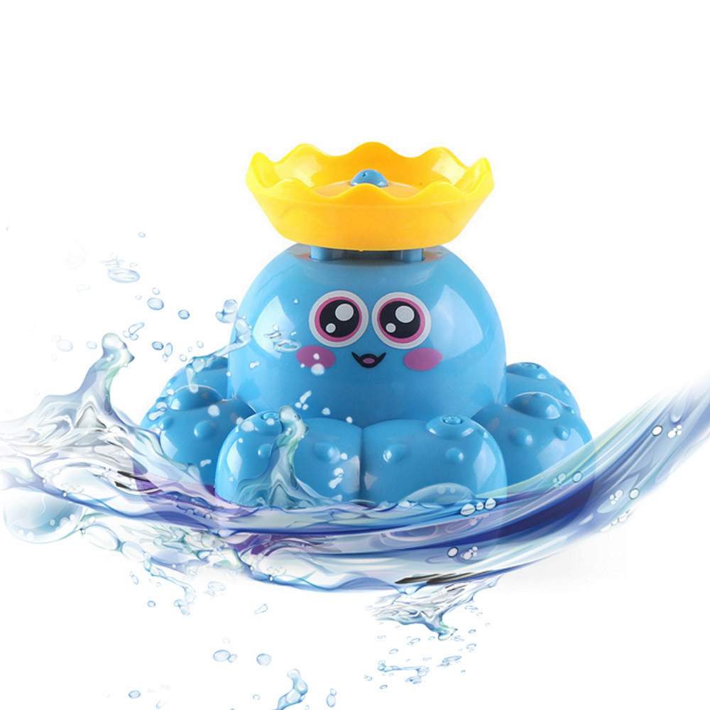 Bath Tub Toys Water Sprayer Octopus Floating Bathtub Shower Swimming Pool Bathroom Play Animals For Child #C