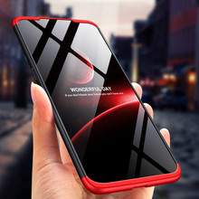 3-in-1 PC Phone Case 360 for Xiaomi Redmi note 6 pro Tempered Glass+Full Pro 6A