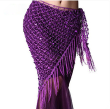 New style Belly dance costumes sequins belly dance hip scarf for women belly dancing belts cheap Dancer s Vitality CN(Origin) FM6141 Acetate Acrylic Polyester 70cm 150cm