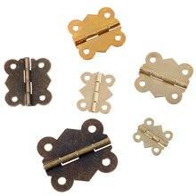 10 шт. 5 размеров Мини Бабочка двери шкафа Ящика ювелирных изделий коробка шарнир мебель