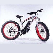 Электрический велосипед XDC600 с толстыми шинами, пляжный Снежный велосипед, 26 дюймов, 4,0 дюймов, электровелосипед 800 Вт (мотор bafang)/1000 Вт, Электрический горный велосипед