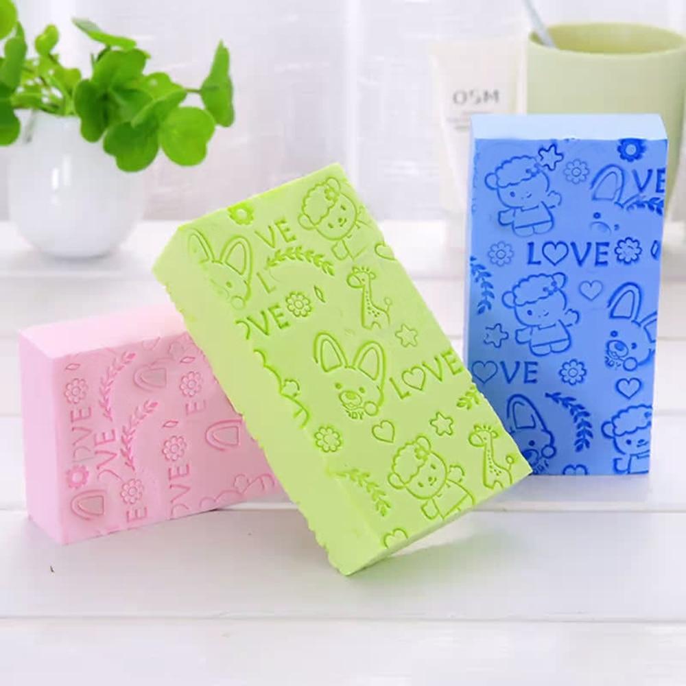1 Pcs Baby Sponge Exfoliating Massage Bath Towel Bathe Rubbing Towel To Dead Skin Bath Ball Multicolor 2
