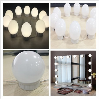 Hollywood Led Mirror Headlight Makeup Mirror Bulb Usb Touch Dimmer With Maquiagem Profissional Completa Espejo Lamp