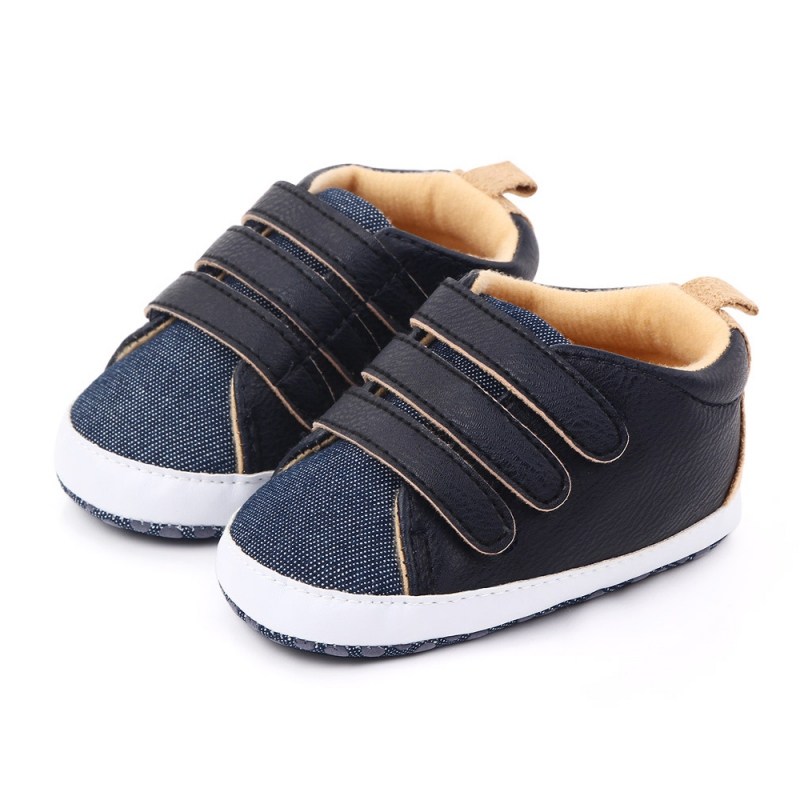 Baby Boys Girls Breathable Anti-Slip Shoes Sneakers Autumn Winter Toddler Soft Soled Patchwork Color First Walkers Crib Shoes