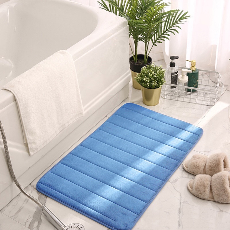Household bath mat, coral fleece bathroom carpet, absorbent non-slip washable carpet, living room bedroom bathroom floor mat