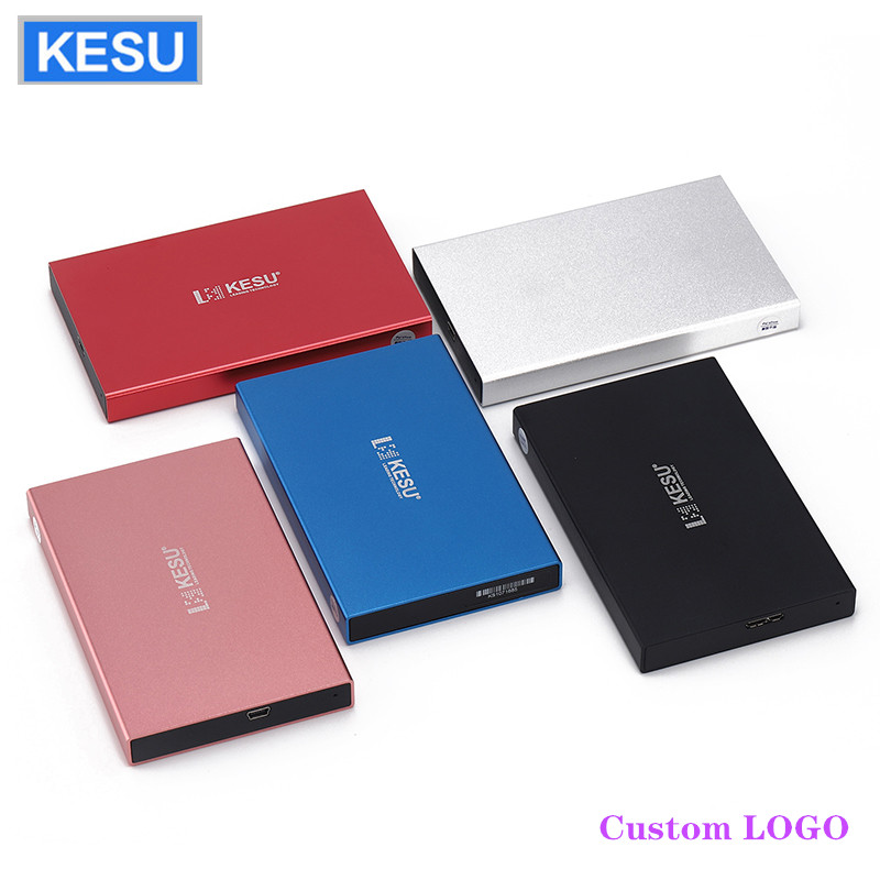 Portable External Hard Drive Custom LOGO USB2.0 250gb 320gb 500gb 1tb Hard Disk External  HDD External HD Hard Disk For PC/Mac