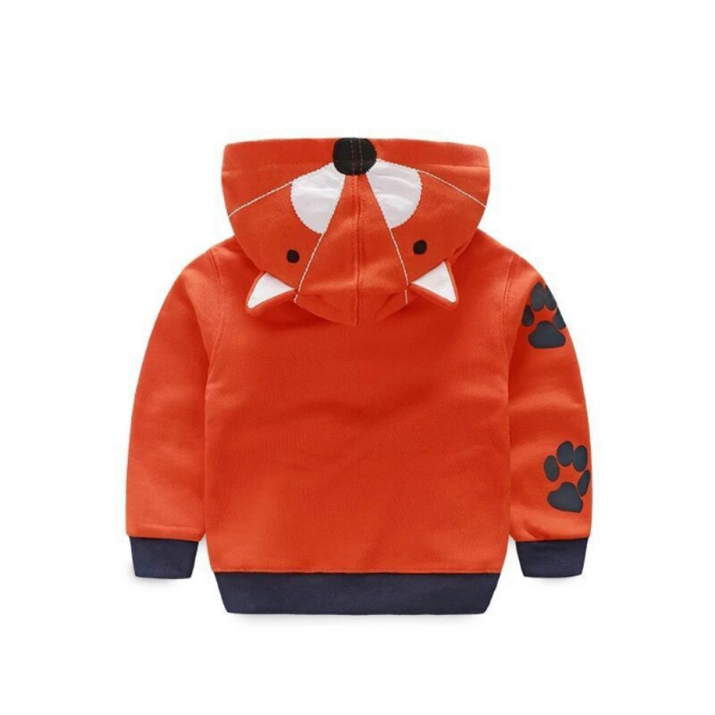 Kids Baby Boys Hooded Zipper Coat Jacket Cute Cartoon Animal Tiger Fall Winter Spring Clothes