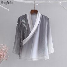 Женская шифоновая блузка из натурального шелка с вышивкой