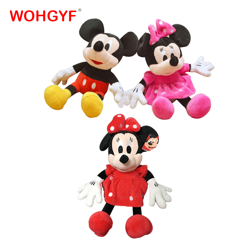 US $4 92 OFF 7 Gaya Panas Kartun Mickey Minnie Plush Hewan Mainan Boneka Donald Bebek Daisy Konyol Anjing Pluto Anjing Boneka Mainan Anak Gadis
