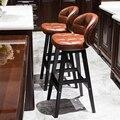 Барный стул современный минималистичный твердый деревянный барный стул высокий барный стул креативный барный стул скандинавский домашний...