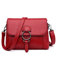2019 New Style Fashion Soft Leather WOMEN'S Bag Fashion Simple Square Sling Bag Cowhide Women's Crossbody Bag a Generation of Fa